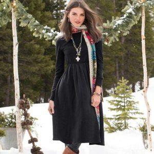 Sundance   Black Jillian Wool and Silk Dress Small